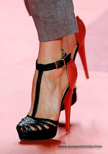 phillip lim. red & black stiletto