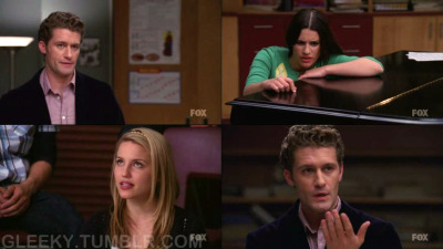 gleeky:  WILL: Today I want to talk to about regrets. Who has some? RACHEL: Giving my heart to Jesse just to have it crushed like the stage floor at a performance of Stomp. QUINN: Thinking 'trust me' was a sensible birth control option. WILL: (nods) We all have them.