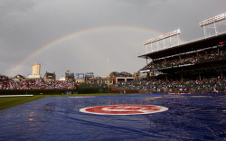 And my personal favorite place in Chicago - Wrigley Field, as I come from a family of psychotic Cubs fans.  No idea where the picture came from, sorry, just had it in my folder and had to share :)