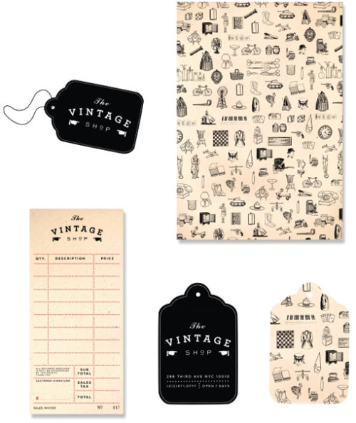 I love the sales receipt! by Kayla Jang found via Designworklife.