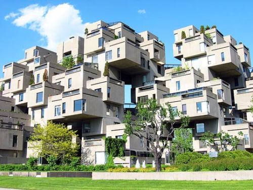 urbangreens:  Habitat 67: Montreal's Prefab Pixel City | Inhabitat