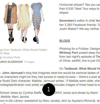 very honored to be included in womenswear daily's social studies column this afternoon. thank you all for reading, supporting and recommending. 1: womenswear daily: pinch me.