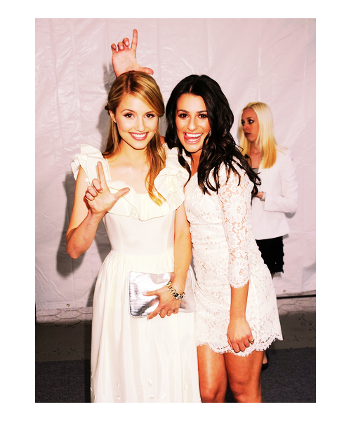 The amazingly beautiful & talented Lea Michele and Dianna Agron.