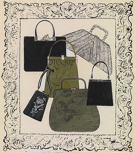 Six Handbags 1958 Andy  Warhol