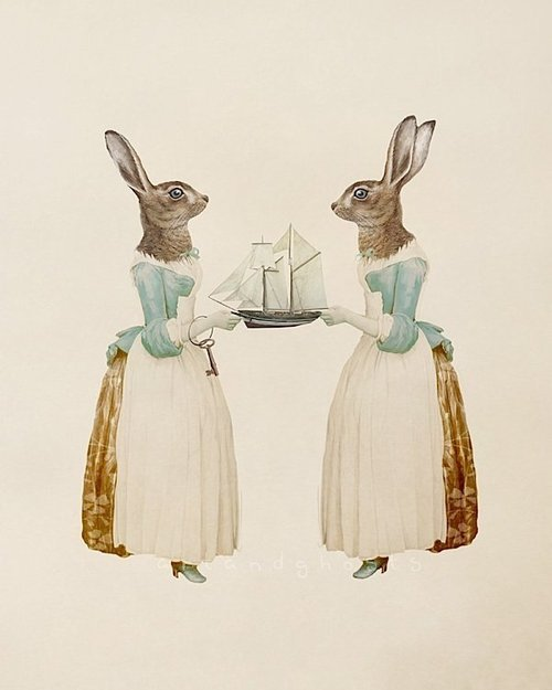 someforeignletters:  Art and Ghosts: Cornish Sisters  (via 2headedsnake)