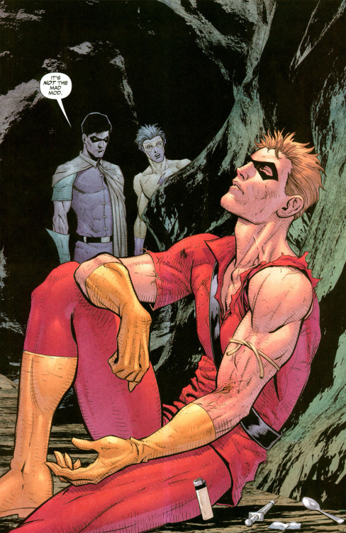 batwoman:   #10. Roy Harper (Green Arrow)  Although I haven't enjoyed his character/characterizations of him as much in recent years, Roy holds a special place in my heart. I love damaged characters and he's the perfect example. Whether he's Speedy or Arsenal or Red Arrow, the guy's one of the most humanized heroes out there. Now if only people would stop kicking him while he's down…
