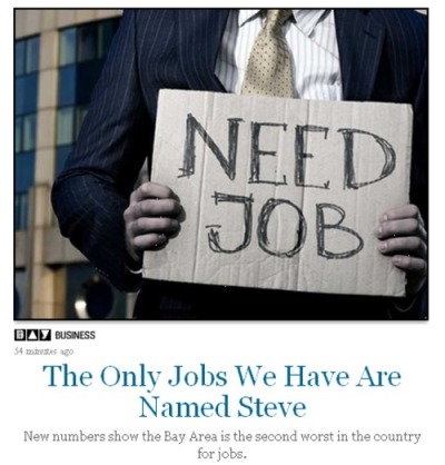 nbclocal:  The lead image/headline for a Bay Area story about unemployment. I laughed.
