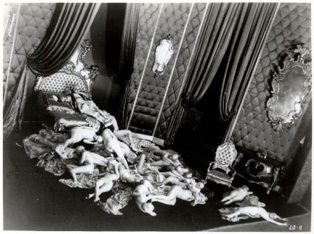 Casanova (1927) - Alexandre Volkoff, image sourced from Film as a Subversive Art (1974) - Amos Vogel Better version here: http://billyjane.tumblr.com/post/1262092643/the-loves-of-casanova-1927-from-very via www.jahsonic.com