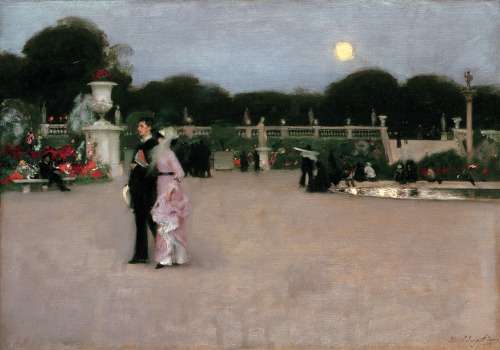John Singer Sargent (American, 1856–1925)In the Luxembourg Gardens, 1879Oil on canvas; 25 7/8 x 36 3/8 in. (65.7 x 92.4 cm)Philadelphia Museum of Art, John G. Johnson Collection, 1917 (Cat. 1080)Photograph: Graydon Wood (Via Metmuseum)