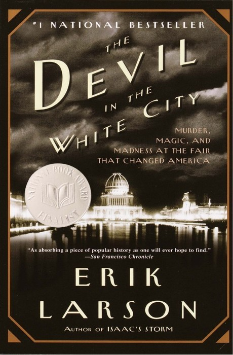 """The Devil in the White City"" by Erik Larson. A book I just started reading…"
