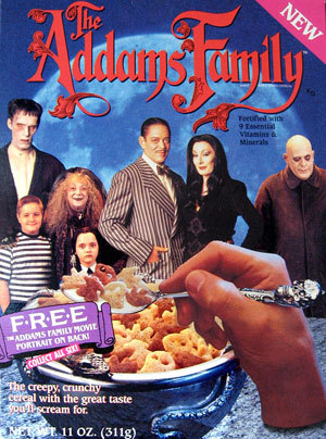 Adams Family Cereal (Remembered by singmelancholybaby)