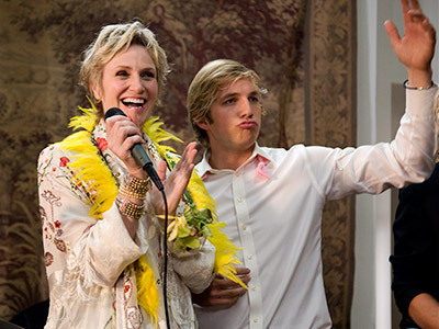 tinywords:  popculturebrain:  Jane Lynch Returns to 'Party Down' | EW.com Lynch who left Party Down for some Fox show called Glee (Yeah, I've never heard of it either) will be back for Party's season 2 finale. And make sure to watch tonight for some sweet Kristen Bell action.  YEEEEEEEEEEEEEEEEEEEEEEEEEES!!!!!!!!!!!!!!!!!!!!!!!!!!!!!!!!!!!!!!!!