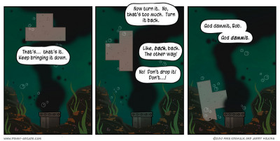 Penny Arcade! - The Universal Analogy tetris and the gulf oil spill