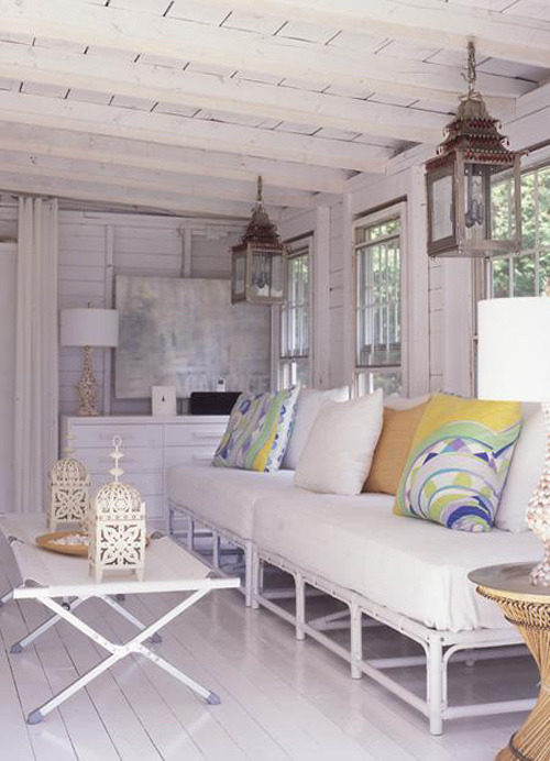 modern cottage living room | style-files.com