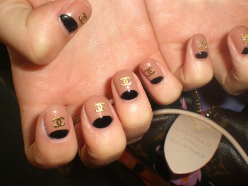 wahnails:  chanel half moons