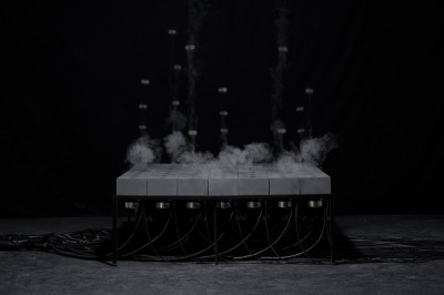 for those who see (by Daniel Schulze), 2010. fog, speakers, concrete. via UdK Berlin