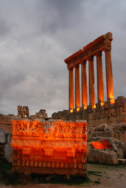 Temple of Jupiter, Baalbek, Lebanon by KemaLMerT
