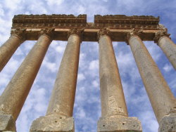 Temple of Jupiter, Baalbek, Lebanon by Godsmurf