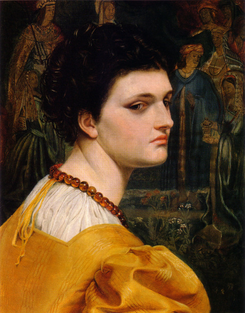 Emma Sandys Lady in Yellow Dress, c. 1870