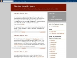 The Hot Hand in Sports: More Blog Love | Psych at Work Check it out!