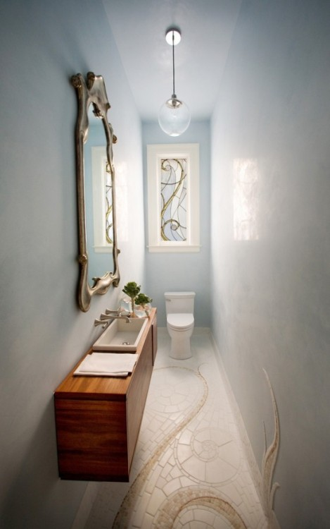 micasaessucasa:  Small and Elegant Powder Room Design | DigsDigs