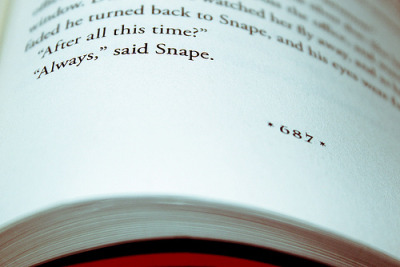 """After all this time?"" ""Always,"" said Snape. <3"