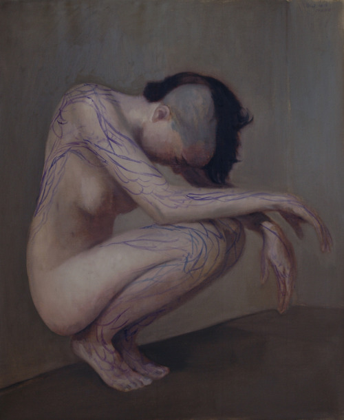 tinei:  Snake by Alexander Tinei, 2010, 120 x 100 cm, oil on canvas
