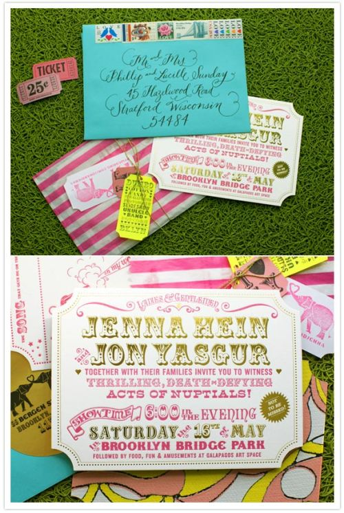 The most beautiful circus-themed invitations.