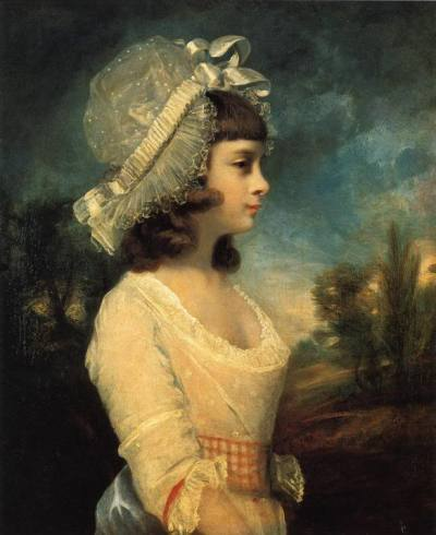 historicalfashion:  Miss Theresa Parker by Reynolds, 1787