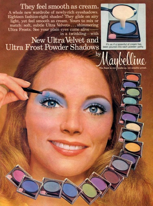 "Subtle eye-makeup from the tasteful, restrained era history calls ""The 70s."""