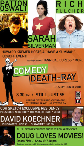 Look who's having a Summah tomorrow night at Comedy Death Ray!