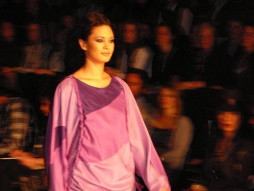 A runway shot my friend Yasmin took of my winter 2008 collection.