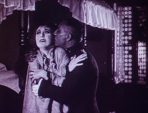 Eric von Stroheim, the seducer of mountain-climbers' gasping spouses, [Eric von Stroheim and probably Francelia Billington in Blind Husbands (1919).]