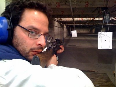 Nick Kroll… with a gun… <3 you're welcome