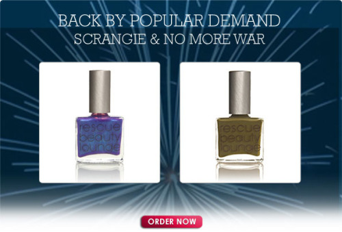 YES! If you really, really, really wanted RBL's Scrangie polish - but didn't get it - or love the mucky olive of No More War (I do), this is it. Last chance for love.   I ordered two Scrangie. I'm leaving No More War to chance and hoping they have it in stock after the pre-order.  I know. Crazy prices. But better than eBay.