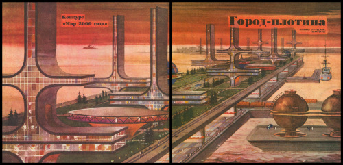 retro_futurism: Город-плотина  via metropolisoftomorrow