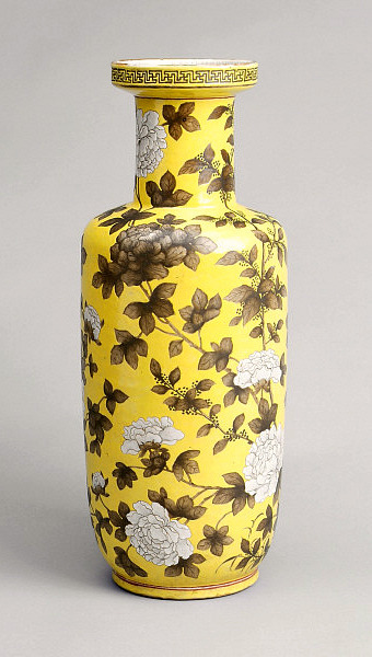 Unknown (Chinese) Yellow Peony Vase 1662