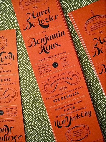 Love the beautiful typography on these invitations.