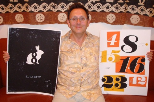 fuckyeahlost:  Hey, it's Michael Emerson holding some of Ty Mattson's prints that are available in the ABC store! [photo via @TyMattson]