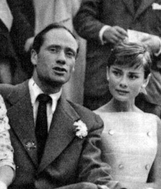 Audrey Hepburn and Mel Ferrer in Madrid, Spain - June 1955