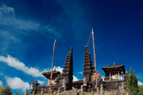 Mother Temple of Besakih is the biggest Hindu temple in Bali which the local people call Pura Besakih. It is one of the most important temple of the Hindu religion in Bali and has a beautiful view from the top of the temple area. At the top, you can see a wide panorama of nature extending to the ocean. via allaboutindonesia: