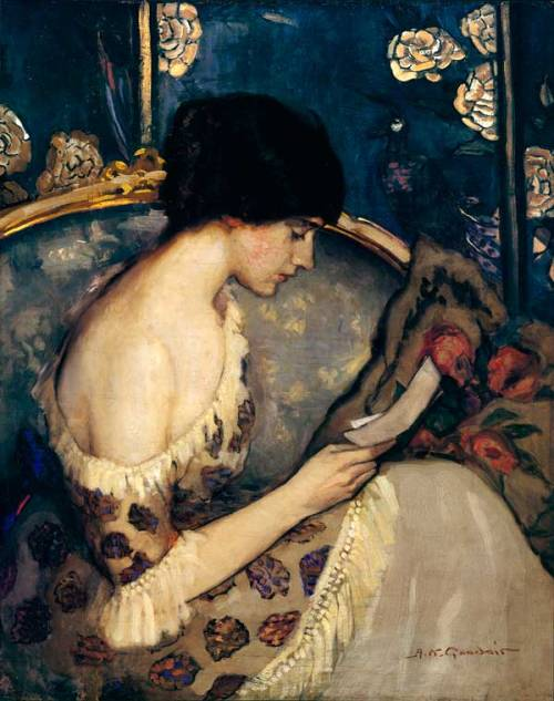 nancyrivers:  pnowlin:  toomuchart:  Agnes Goodsir, Girl on a Couch.  (via gleamandglare)