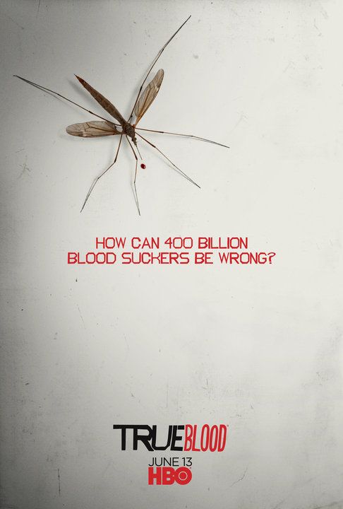 True Blood Season 3 Poster #12 The 12th & final True Blood viral poster has been released! I dig it. It's not my favourite, but all-in-all this 3 month poster art campaign has been a fun way to build up anticipation for the season 3 premiere. Sunday my loves! It's going to be amazing! Previous Posters: #1 - Nothing Like a Good Cup Of Joe #2 - VILF #3 - Get Your Fill #4 - Be True #5 - Missing #6 - Please do not feed the shapeshifters #7 - Vamp Stamp #8 - BeWere #9 - Night Cap #10 - Me & Little Sister Sally #11 - Life Goes On There will be 12 total, one every week leading up to the June 13th 3rd season premiere. Each post is updated with a link to the HQ poster. They're also available for purchase at the HBO store.