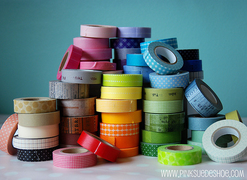 tinywhitedaisies:  raspberrytart:  Big pile of tape 2 [explored] (by pinksuedeshoe)