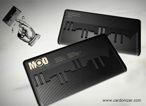 This business card is bad ass. Business Card for: MODhair   | The Best of Business Card Design