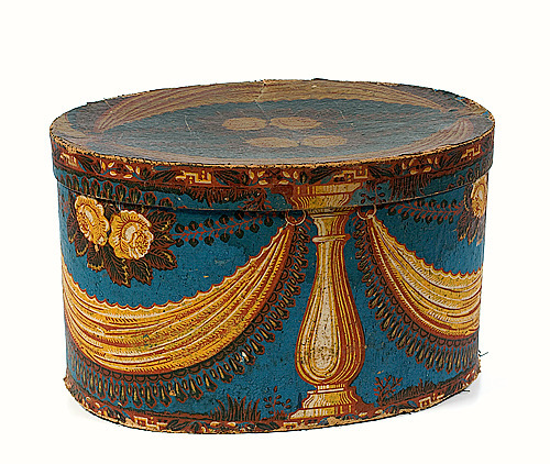 Unknown (American) Wallpaper Band Box Late 19th century