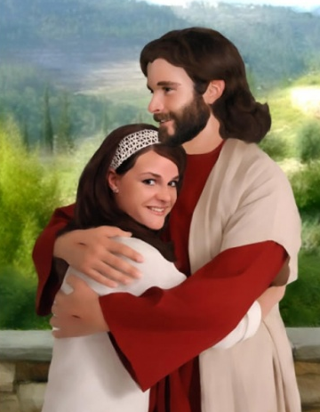 Utah portrait studio allows customers to get photos taken with live Jesus model (Click image for article and link to website)