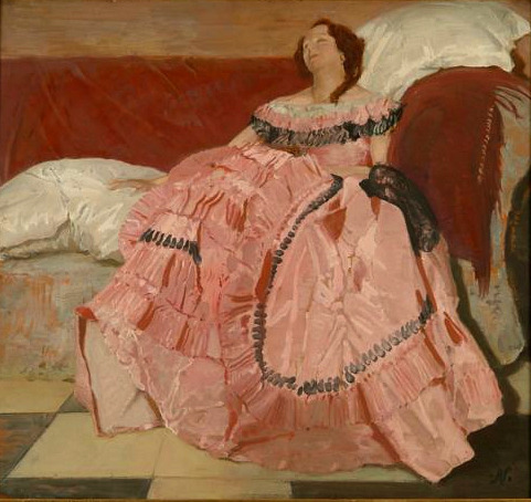 William Nicholson The Pink Dress 1934