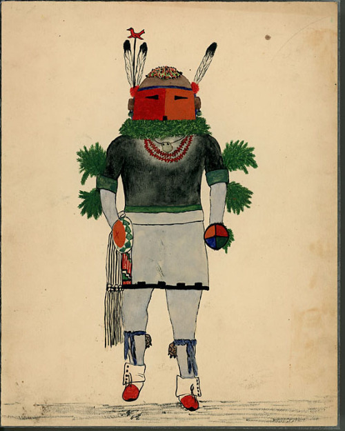 Wolf Robe Hunt Kachina: Kuapichani (Go-A-Pi-Chani) 1928