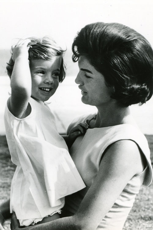 kennedys:  Caroline and her mother, First Lady Mrs. Kennedy.